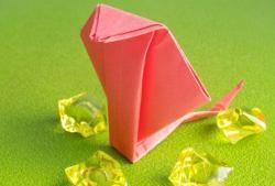 Como fazer cobra na técnica de origami