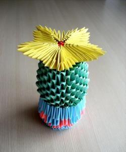 Modular Origami Cactus