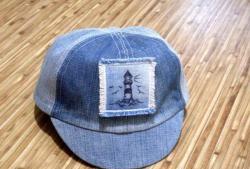 Szyjemy dżinsową czapkę baseballową dla dziecka