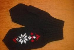 Women's mittens with a Norwegian star