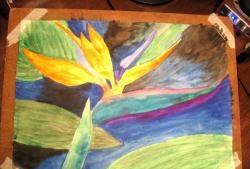Akvareltegning