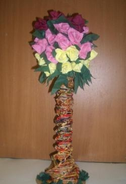 Magazine tube topiary