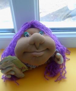 Popik Puppe in Strumpfwaren