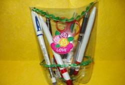 Lápis de garrafa de plástico
