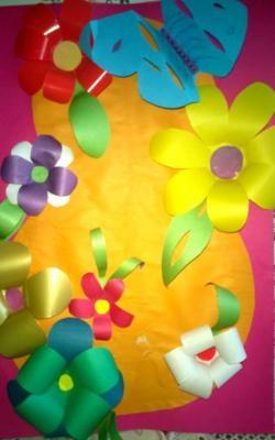 3B çiçeklerle orijinal doğum günü kartı