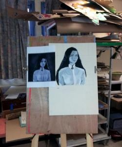 Chúng tôi vẽ một bức chân dung bằng sơn acrylic