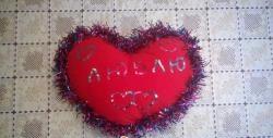 Hjerteformet pude