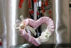 Sanfter Valentinstag in Form eines Herzens