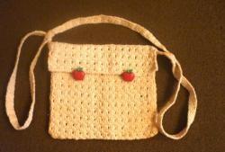 Hæklet baby taske