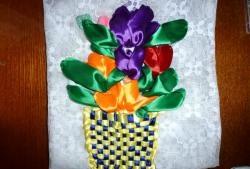 Hoa tulip trong giỏ