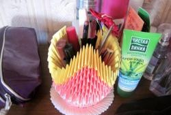 Vază pentru produse cosmetice