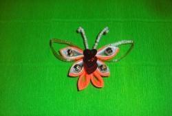 """Spinka do włosów """"Pomarańczowy motyl"""""""