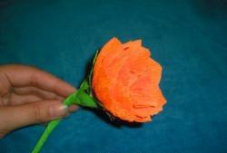 Гофрирана хартия цветя лотос