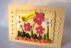 """Kartka z życzeniami """"Kwiatowa łąka"""""""