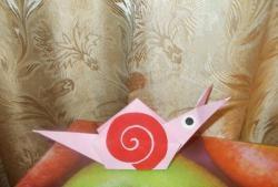 Juokinga origami sraigė