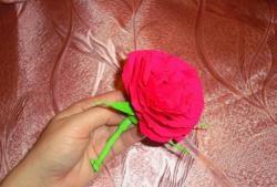 Буйна гофрирана хартия роза