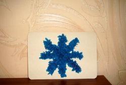 Гофрирана хартиена снежинка
