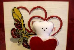Полярно мече от руно със сърце