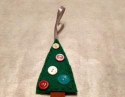 Árvore de Natal feita de feltro