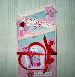 Katlanır aşk kartı