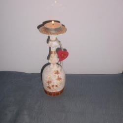 Champagne glass candlestick