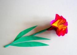 Garoafă din hârtie colorată