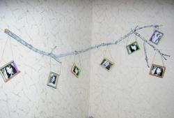 Realizarea unui colț de cameră cu o ramură de copac