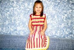 Rochie din tricot pentru fete