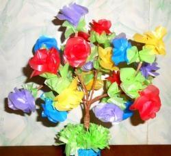 Træ med roser
