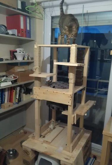 Casa de gato muito alta e durável