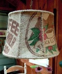 Lampa de cafea ... abajur din iută