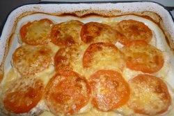 File de pui cu roșii și brânză
