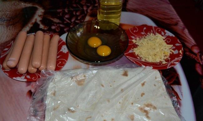 Salsichas em pão pita em 5 minutos