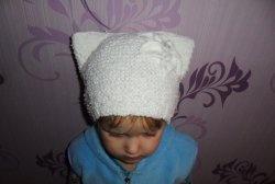 Dziecięca czapka z uszami