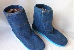 Botas de lã de ganga