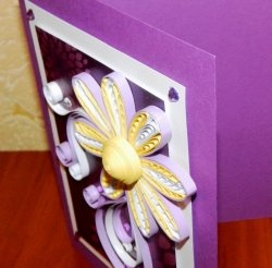 "Quilling card ""Volumetric flower"""