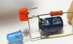 Enkel flasher på en transistor