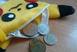 Carteira de feltro infantil Pikachu