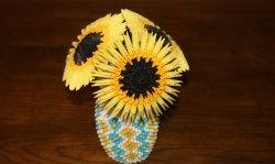 Floarea-soarelui de hârtie