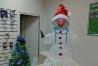 DIY snowman made of thread