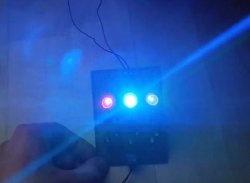 Paprasta spalvota muzika šviesos dioduose
