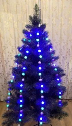 Ghirlanda cu brad LED de Crăciun
