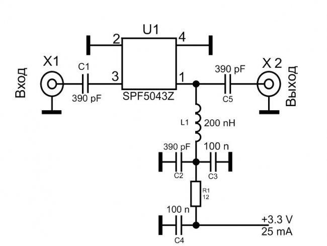 Basit üniversal anten amplifikatörü