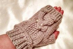 Cum să tricotăm mănuși cu un model de bufniță