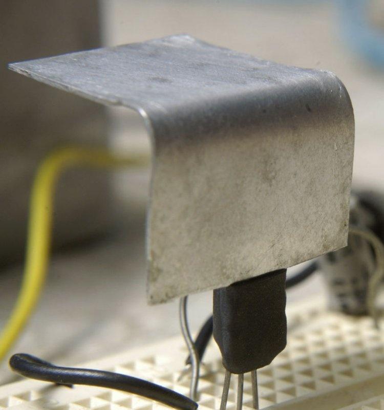 Grzejnik do tranzystorów małej mocy