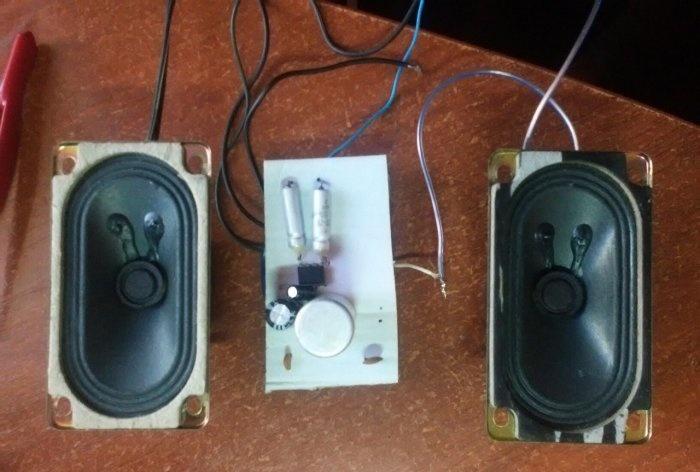 Amplifier on TDA2822