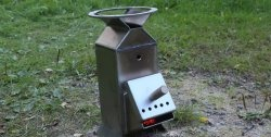 Camping stove with high efficiency