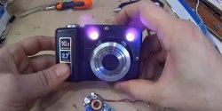 Natsynsenhed fra et gammelt kamera