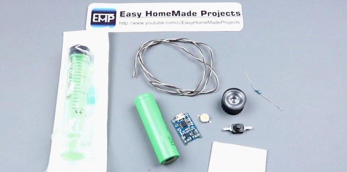 Domowa super jasna latarka LED Mini