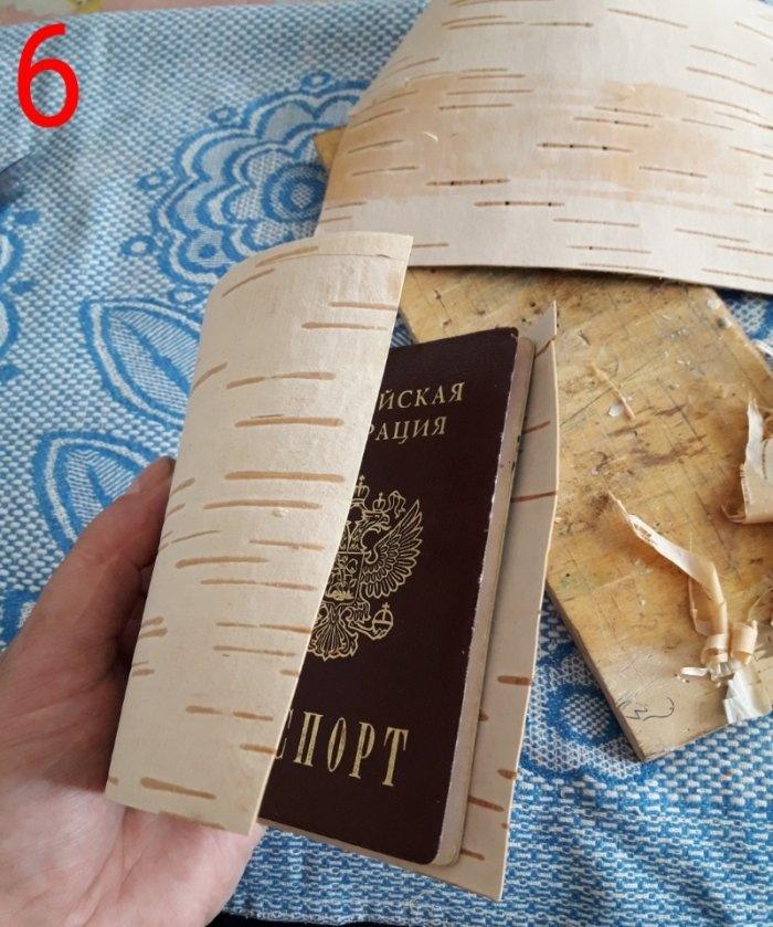 Capas para documentos de casca de bétula